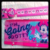 Disney Office   Minnie Mouse 4 Piece Study Set   Color: Pink   Size: Os