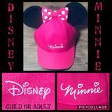 Disney Accessories | Minnie Mouse Disney Hat! Authentic! Child Or Adult | Color: Black/Pink | Size: Osg