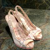 Coach Shoes   Coach Summer Wedge With Plaid Detail   Color: Cream   Size: 8.5