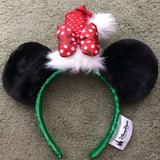 Disney Accessories | Holiday Minnie Mouse Ears | Color: Black | Size: Os