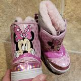 Disney Shoes   Minnie Mouse Light Up Snow Boots   Color: Pink/Silver   Size: 6bb