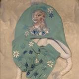 Disney Accessories | Disney Princess Elsa Hat And Gloves | Color: Blue | Size: Osg