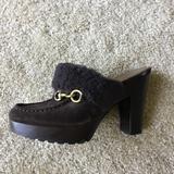 Coach Shoes   Coach Brown Suede Shearling Platform Clogs   Color: Brown   Size: 7