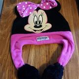 Disney Accessories | Disney Minnie Mouse Hat | Color: Black/Pink | Size: Osg