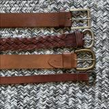 American Eagle Outfitters Accessories   Bundle 100% Leather Belt   Color: Brown/Tan   Size: Os