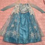 Disney Costumes | Authentic Disney Queen Elsa From Frozen Costume | Color: Blue/White | Size: 9-10