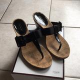Coach Shoes | Coach Black Wedge Sandal | Color: Black/Tan | Size: 8.5