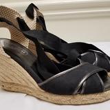 Coach Shoes | Coach Shoes Espadrilles Ankle Wrap | Color: Black/Tan | Size: 6