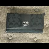 Coach Bags | Large Coach Wallet With Checkbook Insert | Color: Black | Size: Os