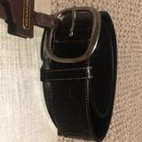 Coach Accessories   Black Embossed Stitched Coach Belt   Color: Black   Size: Small