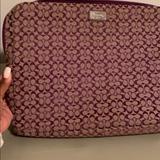 Coach Accessories   Coach Purple Laptop Case   Color: Purple   Size: Os