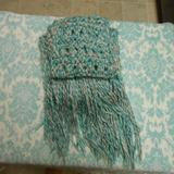 American Eagle Outfitters Accessories | Excellent Condition American Eagle Fringe Scarf! | Color: Blue/White | Size: Os