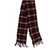 Burberry Accessories   Burberry Merino Wool Check Scarf   Color: Black/Red   Size: Os