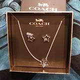 Coach Jewelry   Coach Star Necklace And Earing Set   Color: Silver   Size: Os