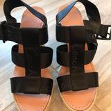 Coach Shoes | Coach Espadrille Black Wedge - Never Worn No Box | Color: Black | Size: 9.5