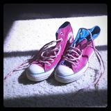 Converse Shoes | Converse Womens Chuck Taylor All Star Velvet Pink | Color: Blue/Pink | Size: 6