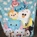 Disney Bedding   Disney Tsum Tsum Blanket   Color: Blue/Green   Size: Os