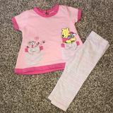 Disney Shirts & Tops | Disney Pooh Bear Baby Girl 3-6m Tunic & Leggings | Color: Pink | Size: 3-6mb