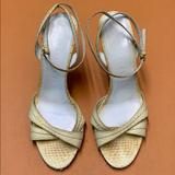 Burberry Shoes   Burberry Yellow Python Slingback Heels   Color: Cream/Yellow   Size: 8.5