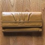 Coach Bags   Coach Mustard Yellow Leather Wallet   Color: Orange/Tan   Size: Os