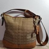 Coach Bags   Coach Signature Crossbody Handbag   Color: Brown   Size: Small
