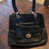 Coach Bags   Coach, Black Leather Handbag.   Color: Black   Size: Os
