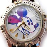 Disney Accessories | Disney Store Mickey Mouse Mens Wristwatch Watch | Color: Blue/Silver | Size: Os