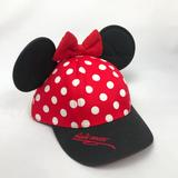 Disney Accessories | Disney Minnie Mouse Ears Kids Hat | Color: Black/Red | Size: Osg