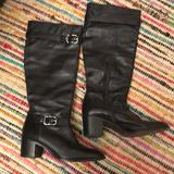 Coach Shoes | Coach Black Leather Knee High Boots Size 8 | Color: Black | Size: 8