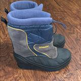 Columbia Shoes | Kids Columbia Bugabarn Jr Rain Snow Boots Sz 3 | Color: Black/Blue | Size: 3b