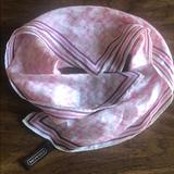 Coach Accessories   Coach 100% Silk Bandana   Color: Pink/White   Size: 21 X 21
