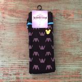 Disney Accessories | Few Pairs Left Disney Kingdom Heart Crew Socks | Color: Black | Size: Shoe 10 - 13