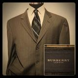 Burberry Suits & Blazers | Burberry London Mens Wool Blazer Pinstripe Sz 46r | Color: Gray | Size: 46r