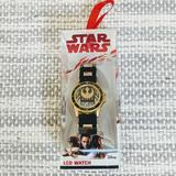 Disney Accessories | New Children Star Wars Lcd Watch | Color: Black/Gold | Size: Os