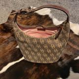 Dooney & Bourke Bags | Dooney & Bourke Small Tote Hobo Bag Euc! | Color: Brown/Tan | Size: 10 W X 9-34 H X 7 D