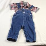 Polo By Ralph Lauren Matching Sets | 2 Pc Polo Ralph Lauren Overalls & Matching Shirt | Color: Blue | Size: 12mb