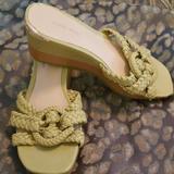 Nine West Shoes | 3$30 Nine West Lime Slide Sandal Sz 6 | Color: Green/Yellow | Size: 6