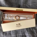 Coach Jewelry   Coach Boyfriend Gold Logo Signature Large Watch   Color: Gold/White   Size: Os