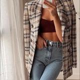 Michael Kors Suits & Blazers | Michael Kors Blazer Jacket Summer Blazer Tan Plaid | Color: Tan | Size: 42r