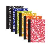 BAZIC Products 80 Sheet Floral Poly Cover Personal Composition Book (48 Pack), Size 6.93 H x 4.88 W in   Wayfair 5470-48