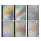 BAZIC Products College Rule 100 Ct. Holographic Composition Book, Size 9.75 H x 7.5 W in | Wayfair 5495-48
