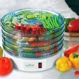 NutriChef Electric Countertop Food Dehydrator, Food Preserver (White), Size 13.98 H x 13.58 W x 8.46 D in   Wayfair PKFD12.1