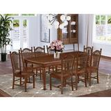 Alcott Hill® Cheryle 9 - Piece Extendable Solid Wood Dining Set Wood in Brown, Size 30.0 H in | Wayfair CA5D4971F4A94CD0ABB849D2C16F131D