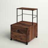 Sand & Stable™ Orman 1-Drawer Mobile Vertical Filing Cabinet Wood in Brown, Size 28.5 H x 18.5 W x 20.0 D in | Wayfair