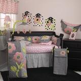 Harriet Bee Derr 9 Piece Crib Bedding Set Cotton in Black/Green/Pink, Size 52.0 W in   Wayfair PY7S
