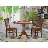 Darby Home Co Brennon 3 - Piece Drop Leaf Solid Wood Rubberwood Dining Set Wood in Brown, Size 29.5 H in | Wayfair 955DDA138B244B7BBFF19CB1CB1758F2