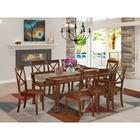 Alcott Hill® Vonda 9 - Piece Extendable Rubberwood Solid Wood Dining Set Wood in Brown, Size 30.0 H in | Wayfair 0493EBD141D540B995575CF214DA6C1B