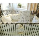 Harriet Bee Demello 4 Piece Crib Bedding Set Cotton in Brown | Wayfair 50LAM-4P