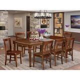 Alcott Hill® Caren 9 - Piece Solid Wood Dining Set Wood in Brown, Size 30.0 H in | Wayfair BE615DC5820149E2911333BDBFB19731
