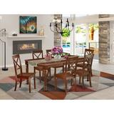 Alcott Hill® Debi 7 - Piece Solid Wood Dining Set Wood in Brown, Size 30.0 H in | Wayfair C34C0EDCB5EA4A3D82ACB39B2FF1BADF